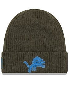 New Era Detroit Lions Salute To Service Cuff Knit Hat