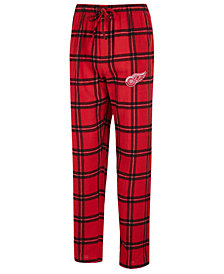Concepts Sport Men's Detroit Red Wings Homestretch Flannel Pajama Pants