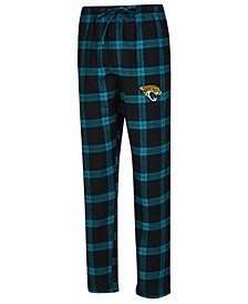 Concepts Sport Men's Jacksonville Jaguars Homestretch Flannel Sleep Pants