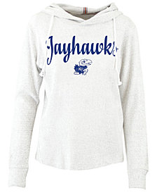 Pressbox Women's Kansas Jayhawks Cuddle Knit Hooded Sweatshirt
