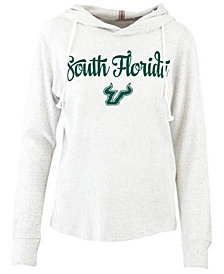 Pressbox Women's South Florida Bulls Cuddle Knit Hooded Sweatshirt