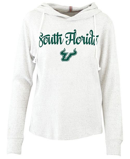 Pressbox Women's South Florida Bulls Cuddle Knit Hooded Sweatshirt