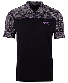 Antigua Men's Texas Christian Horned Frogs Final Play Polo
