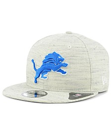 New Era Detroit Lions Luxe Gray 9FIFTY Snapback Cap
