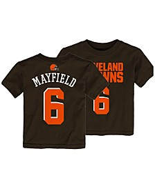 Baker Mayfield Cleveland Browns Mainliner Player T-Shirt, Toddler Boys (2T-4T)