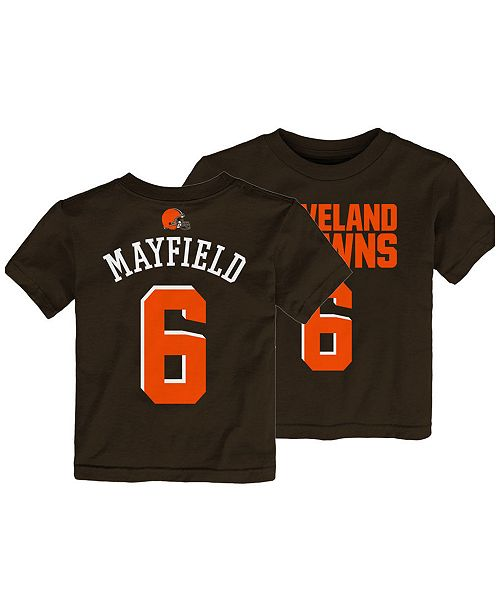 detailed look 34123 ef142 Baker Mayfield Cleveland Browns Mainliner Player T-Shirt, Toddler Boys  (2T-4T)