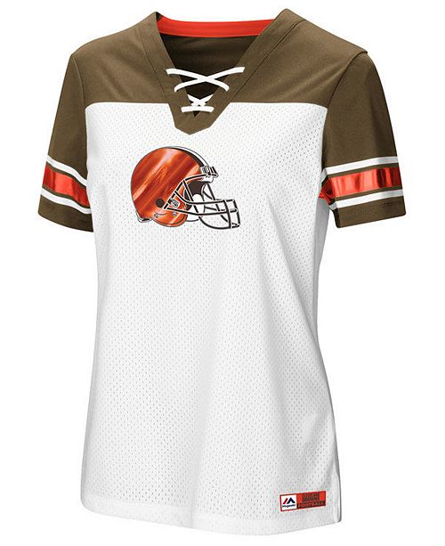 promo code a6330 a453b Majestic Women's Cleveland Browns Draft Me T-Shirt 2018 ...