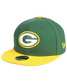 Boys' Green Bay Packers Two Tone 9FIFTY Snapback Cap