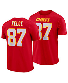 Nike Men's Travis Kelce Kansas City Chiefs Pride Name and Number Wordmark T-Shirt