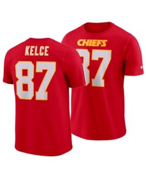 Nike Men's Travis Kelce Kansas City Chiefs Pride Name and Number Wordmark T-Shirt