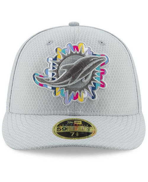 ... New Era Miami Dolphins Crucial Catch Low Profile 59FIFTY Fitted Cap ... bd867a65d943