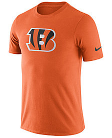 Nike Men's Cincinnati Bengals Dri-Fit Cotton Essential Logo T-Shirt