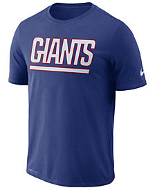 Nike Men's New York Giants Dri-FIT Cotton Essential Wordmark T-Shirt