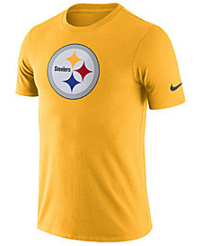 Nike Men's Pittsburgh Steelers Dri-Fit Cotton Essential Logo T-Shirt