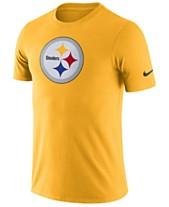 aa2978769c16 Nike Men s Pittsburgh Steelers Dri-Fit Cotton Essential Logo T-Shirt