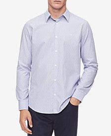 Calvin Klein Men's Striped French-Placket Shirt