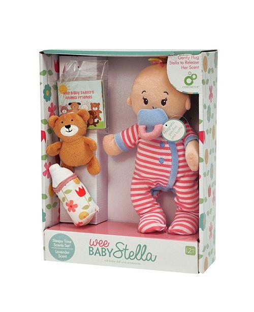 Manhattan Toy Company Manhattan Toy Wee Baby Stella Sleepy Time Scents 12 Inch Soft Baby Doll Set