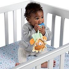 Manhattan Toy Safari Lion Lovie And Animal Shapes Llama Silicone Teether Baby Soothing Set