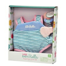 Manhattan Toy Wee Baby Stella Travel Time Carrier Set And Delightful Diaper Bag Baby Doll Accessories