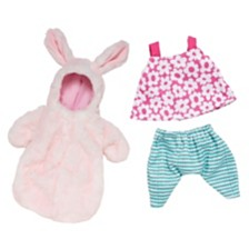 Manhattan Toy Wee Baby Stella Snuggle Bunny Sleeper And A Day At The Park Outfit Baby Doll Accessory