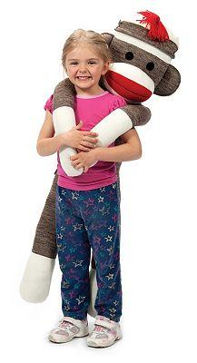 Schylling Jumbo Sock Monkey Stuffed Animal Kids Macy S