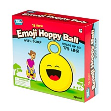 18In Emoji Hoppy Ball With Pump Assorted Styles