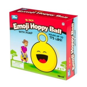 Toysmith 18In Emoji Hoppy Ball With Pump Assorted Styles