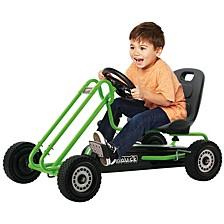 Lightning Ride On Pedal Go Kart Green