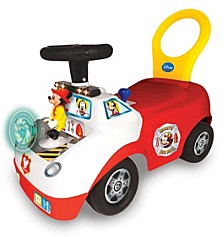 Disney Mickey Mouse Activity Fire Truck Light And Sound Activity Ride On