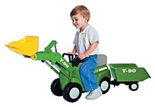 Technology Farm Tractor With Big Scoop And Trailer Ride On