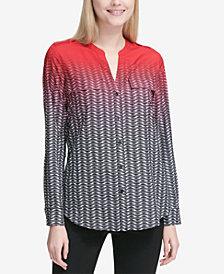 Calvin Klein Printed Chain-Detail Top