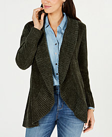 Style & Co Shawl-Collar Open-Front Cardigan, Created for Macy's