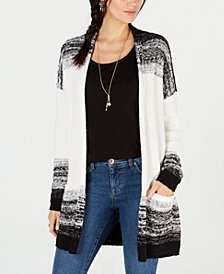 Style & Co. Textured Open-Front Completer Cardigan, Created for Macy's