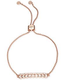 DKNY Rose Gold-Tone Crystal Slider Bracelet