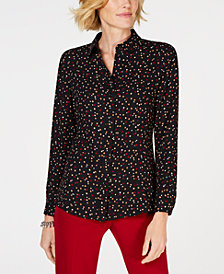Anne Klein Dot-Print Blouse