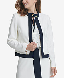 Tommy Hilfiger Zip-Up Ivory Calvary Jacket