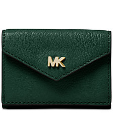 MICHAEL Michael Kors Shiny Leather Trifold Flap Wallet