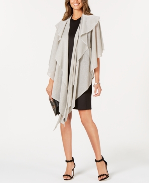 Image of Cejon Double-Draped Sparkle-Knit Wrap, Created for Macy's