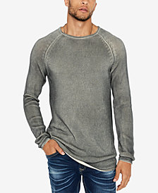 Buffalo David Bitton Men's Walong Regular-Fit Loose-Knit Raglan-Sleeve Sweater