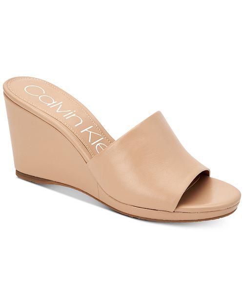 fb57828853 ... Calvin Klein Women's Britta Wedge Sandals, Created for Macy's ...