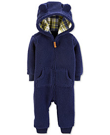 Carter's Baby Boys Hooded Sherpa Jumpsuit