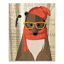 Mr. Bear Printed Canvas