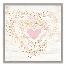 Speckled Gold Heart Recessed Box