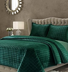Florence Velvet Solid Oversized Queen Quilt Set