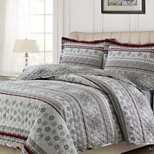 Snowmitten Cotton Flannel Printed Oversized Quilt Set Collection