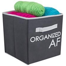 Home Basics Organized AF Non-Woven Bin