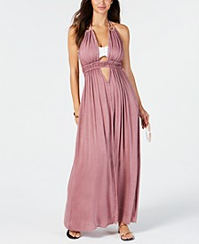 Halter-Top Maxi Dress Cover-Up