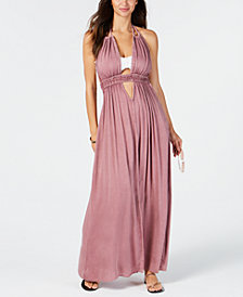 Raviya Halter-Top Maxi Dress Cover-Up
