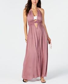 Raviya Halter-Top Maxi Dress Cover-Up