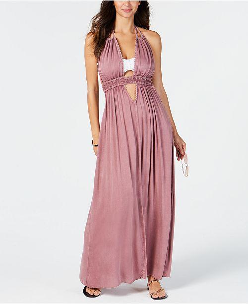 e333a4048c Raviya Halter-Top Maxi Dress Cover-Up & Reviews - Swimwear - Women ...